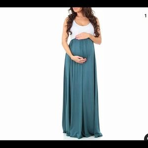 Mother Bee Color Block Maxi Maternity Dress M